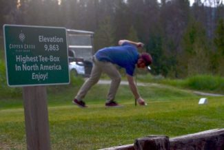 Tee Time: (Almost) the highest tee box in North America
