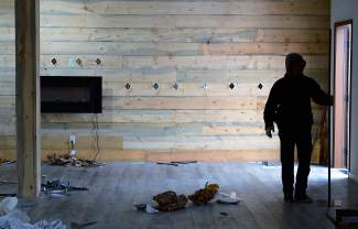 The 2,500 square-foot store was completely emptied on Thursday.