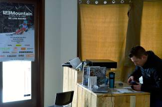 Curtains had been installed to block the view of the store after the inventory was seized two weeks prior. Locks to the building were changed on Thursday to prevent re-entry into the building.