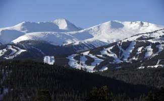 Lower Peak 8 area, lower right, at the Breckenridge Ski Resort Saturday, February 4th, 2012.  Andy Cross, The Denver Post