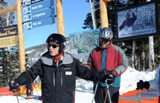 This Dec. 23, 2011, photo shows Billy Kidd during his free clinic on the slopes on Mount Werner near Steamboat Springs. Kidd, 70, who won a silver in the slalom at the 1964 Olympics, skis nearly daily in his role as an ambassador for the Steamboat Ski Resort. Steamboat Pilot & Today/Joel Reichenberger