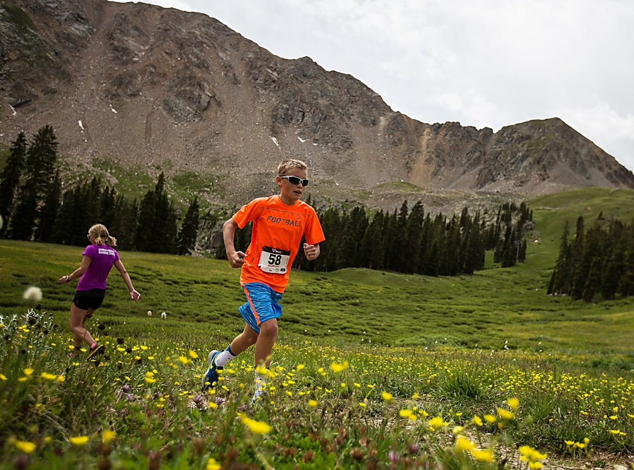 A runner levels out near Black Mountain Lodge before heading to the summit of Arapahoe Basin during the 2015 Summit Challenge trail run. The event returns to A-Basin on Aug. 21 with a 1.8-mile option and 4.6-mile option.