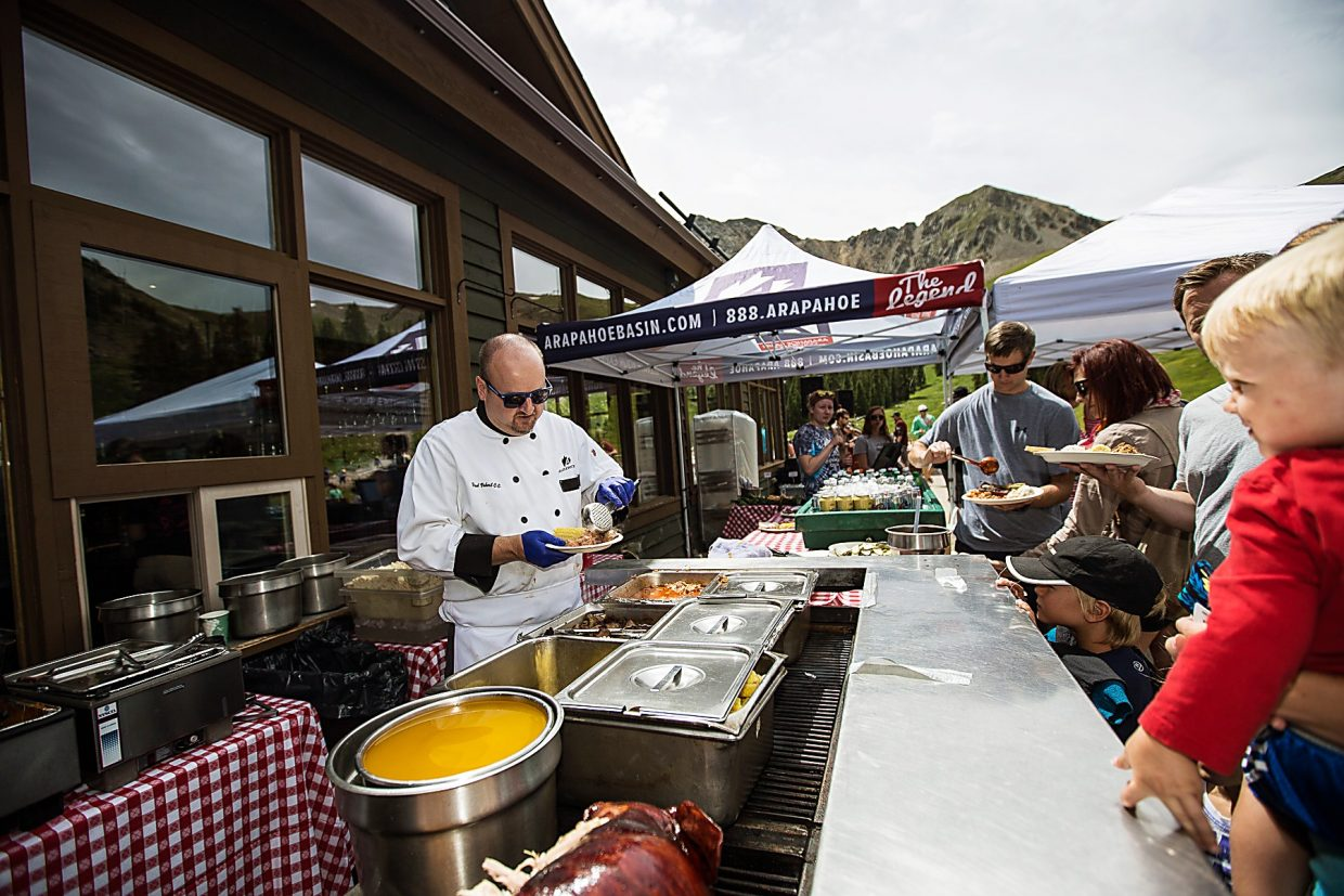 The annual Summit Challenge trail run ends with a barbecue and live music at Black Mountain Lodge.