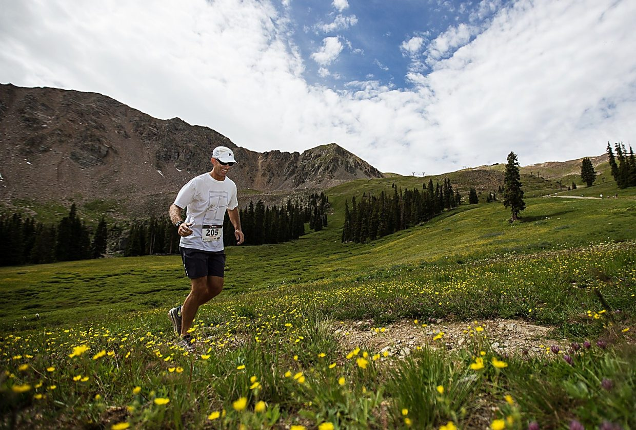 A runner on the 4.6-mile long course at the 2015 Summit Challenge trail run at Arapahoe Basin. The event returns on Aug. 21 with options for beginner and veteran runners.