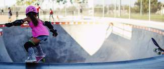 Young skater Relz Murphy in the birthplace of modern skaterboarding, Carlsbad, California. Murphy is one of 25 athletes in
