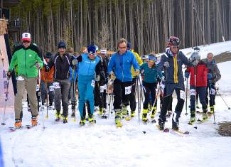 Racers prepare for the starting gun at the Breck Ascent Series finale on April 16 last season. This season the midweek series kicks off on Jan. 13 with a long and short course on Peak 8.