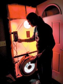 High Country Conservation Center conducts a home energy audit.