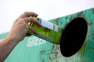 Recycling a bottle