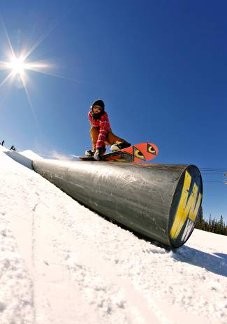 Greyson Clifford, 5-0 with style. Woodward terrain park at Copper.