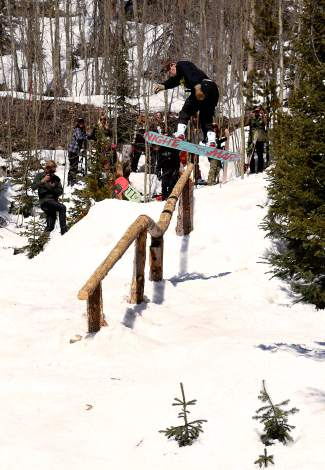 Matt Coughlin, gap to down on the kink log at Bull of the Woods in 2014.