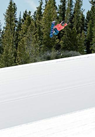 Summer Fenton, method in the Breckenridge halfpipe.