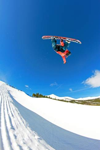 Summer Fenton, a San Francisco native who trains in Breckenridge, with a method in the Breck halfpipe.