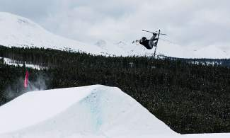 Dillon's Ethan Swadburg training in the Breckenridge terrain park. At 19 years old, the Colorado Springs native splits time almost evenly between filming and competition, including his latest win at the Aspen Open on Feb. 18.