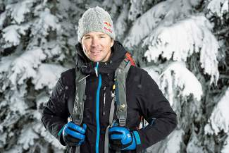 Aspen-based freeskier Chris Davenport. The 44-year-old recently became the first athlete to ski all of Colorado's 100 tallest peaks.