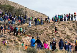 Crowds lined Eagle's Haymaker trail on Oct. 24 to cheer on athletes competing in the Colorado High School Mountain Bike League State Championships.