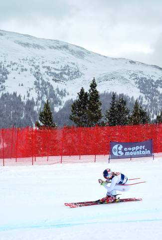 U.S. Olympian Mikaela Shiffrin takes a practice run on the dowhill course at Copper Mountain during U.S. Ski Team practice on Nov. 19. Shiffrin returned to World Cup ski racing on Feb. 15 in Crans-Montana, Switzerland, where she took first ahead of France's Nastasia Noens.