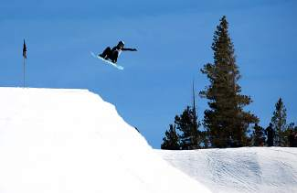 Jenise Spiteri airs out of the Mammoth Mountain superpipe during a training session last season. The California native moved to Breckenridge this winter for early-season training to prepare for an Olympic bid.