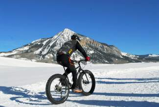 A fat biker rides along the groomed Nordic trails outside of Crested Butte, home to the inaugural Fat Bike World Championships from Jan. 27-31. The Worlds are an open race and will draw several Summit locals, including Jeff Cospolich.