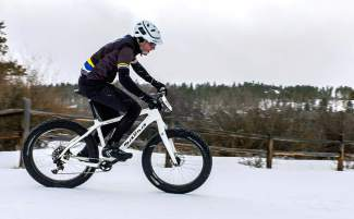 Jeff Cospolich during the Fat Bike Open at Gold Run Nordic Center in Breckenridge on Dec. 5. Cospolich, a longtime local mountain biker, heads to Crested Butte this weekend for the inaugural Fat Bike World Championships from Jan. 27-31.