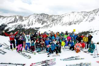 The 35 two-person teams at the 2015 Arapahoe Basin Enduro celebrate at the top of Pallavicini Chair around 5 p.m. after 10 straight hours of skiing the area's gnarliest terrain. The event returns this year with the Enduro (already full) and the Enduro Light ($100 per team), a shorter event from 9 a.m. to 4 p.m. to raise cash for a local cause.