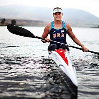 Team USA kayaker Maggie Hogan in her element. The Pennsylvania native is currently training for the regional Olympic trials in hopes of earning a place at the 2016 Olympic Games in Rio de Janeiro.
