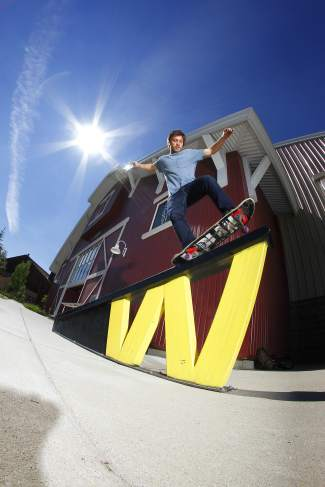 Denver's David Reyes takes a 5-0 down the Woodward rail at a summer camp last year in Copper. Reyes returns as a guest coach this summer for Woodward's nine week-long skateboard camps (June 5 to Aug. 4), all led by pros from across the nation.