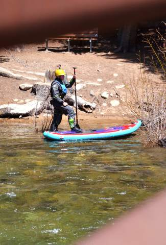 Summit local Ben Staley trains on the Blue River just outside of Silverthorne for the 2016 GoPro Mountain Games in Vail this weekend. The Kansas City native paddles for Hala Gear of Steamboat Springs.