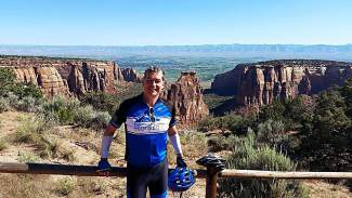 Team Samaritan House cyclist Tom Schwein during a past Cycle the Rockies ride through Colorado. Schwein and his team ride through Summit County June 13-15 with hundreds of riders in the annual bike tour.