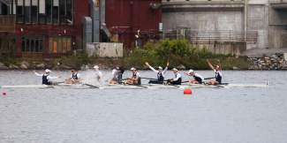 The Yale University rowing crew en route to the school's first Ivy League Cup heavyweight title since 2002. As captain, part-time Summit County local Austin Velte led his team through a stellar season that now takes them to Britain on June 19.