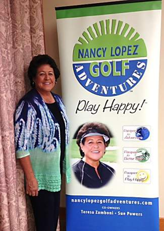 LPGA Hall of Famer Nancy Lopez. The part-time Summit County resident brings her signature women's clinic series, Nancy Lopez Golf Adventures, to The Ranch Course at Keystone from July 7-9 for two days of individual instruction and an opening night reception at her Keystone-area home.