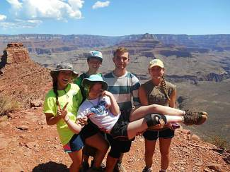 Bobby Moakley with deaf peers on his first No Barriers excursion to the Grand Canyon in 2014. The Boston native was born deaf and found a much-needed community through No Barriers, a Fort Collins-based nonprofit that pairs disabled athletes with guides and support at outdoors events across the country.