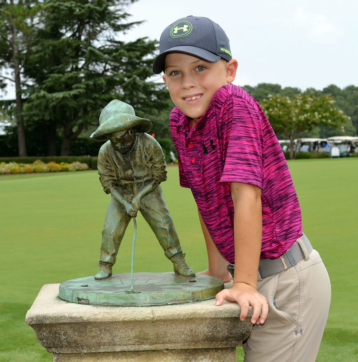 Young Jessy Huebner after winning the U.S. Kids World Golf Championship at Mid Pines Golf Club in Pinehurst, North Carolina on Aug. 6. The 7-year-old part-time Breckenridge resident shot seven under par to finish five strokes ahead of the second-place golfer.