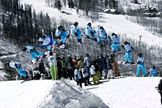 Team Summit Colorado head snowboard director Matt Voegtle with a frontside 540 at Beaver Creek. Since taking over last season, Voegtle's program has reached capacity and sent 11 athletes to the USASA National Championships.