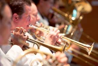 The brass players of the Breckenridge Music Festival Orchestra will present a special concert today at the Riverwalk Center, featuring arrangements of pieces by Sondheim, Gershwin, Debussy, Bach and many more.