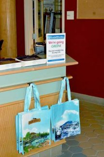 "The reusable ""Breck Bag"" was already for sale over the weekend at the Breckenridge Rec Center. Starting Tuesday, Oct. 15 most customers will be charged 10 cents for plastic or paper bags in town."