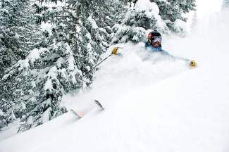 A skier enjoys a powder day last year at Beaver Creek. This weekend Beaver Creek expanded its skiable terrain to more than 1,400 acres and extended its hours by a half hour.