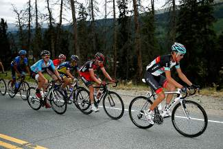 Pro cyclist Andy Schleck of Luxembourg rides in a breakaway during the Breckenridge stage of the 2013 USA Pro Challenge. The 2015 race features two stops in Breckenridge and one finish at Arapahoe Basin — the first in history.