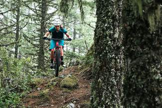 Sarah Rawley riding through her homestate forests in Oregon. The longtime Summit local travels the world for mountain bike races and clinics.