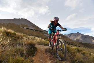 Summit local Sarah Rawley on the singletrack trails in Craigieburn Forest Park near Christchurch, New Zealand, in February 2016. Rawley has travelled the world for mountain bike races and introduces Colorado riders to the sport through her women's-only clinics, the VIDA mountain bike series.