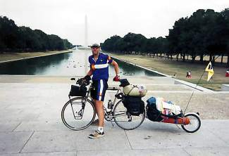 Monte Lowrance stops for photos at the National Monument in Washington, D.C., when he was a little over halfway through a cross-country solo bike trip in 1997. At the time, the Pueblo native and longtime Summit County resident was 45 years old, recently divorced and in need of a biking experience unlike any other.