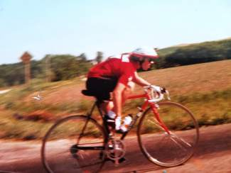 Summit local Adam Shaw in a vintage road cycling photo. He switched form road cycling to mountain biking in the '90s when he moved to Colorado and soon found the Montezuma's Revenge, a once-defunct endurance ride he's slowly bringing back to life.