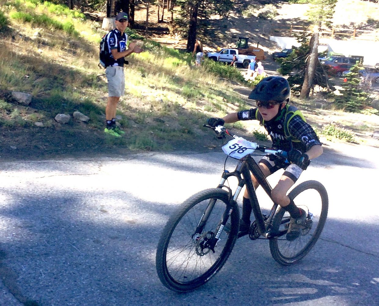 Summit's Nico Konecny, 10, at a recent mountain bike race. The Summit native recently won the 2016 Volkswagen USA Cycling Mountain Bike National Championships at Mammoth Mountain, California, beating a field of 21 competitors in the 9-10 division.