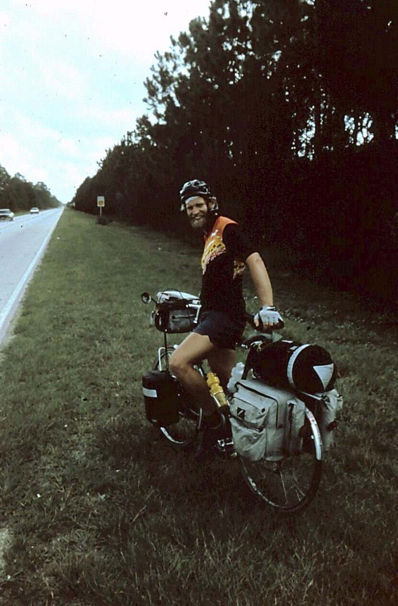 Greg Seebart of Silverthorne had many adventures on his cross-continental voyage between Alaska and the Florida Keys in 1984, but he says he most enjoyed his interactions with people along the road.