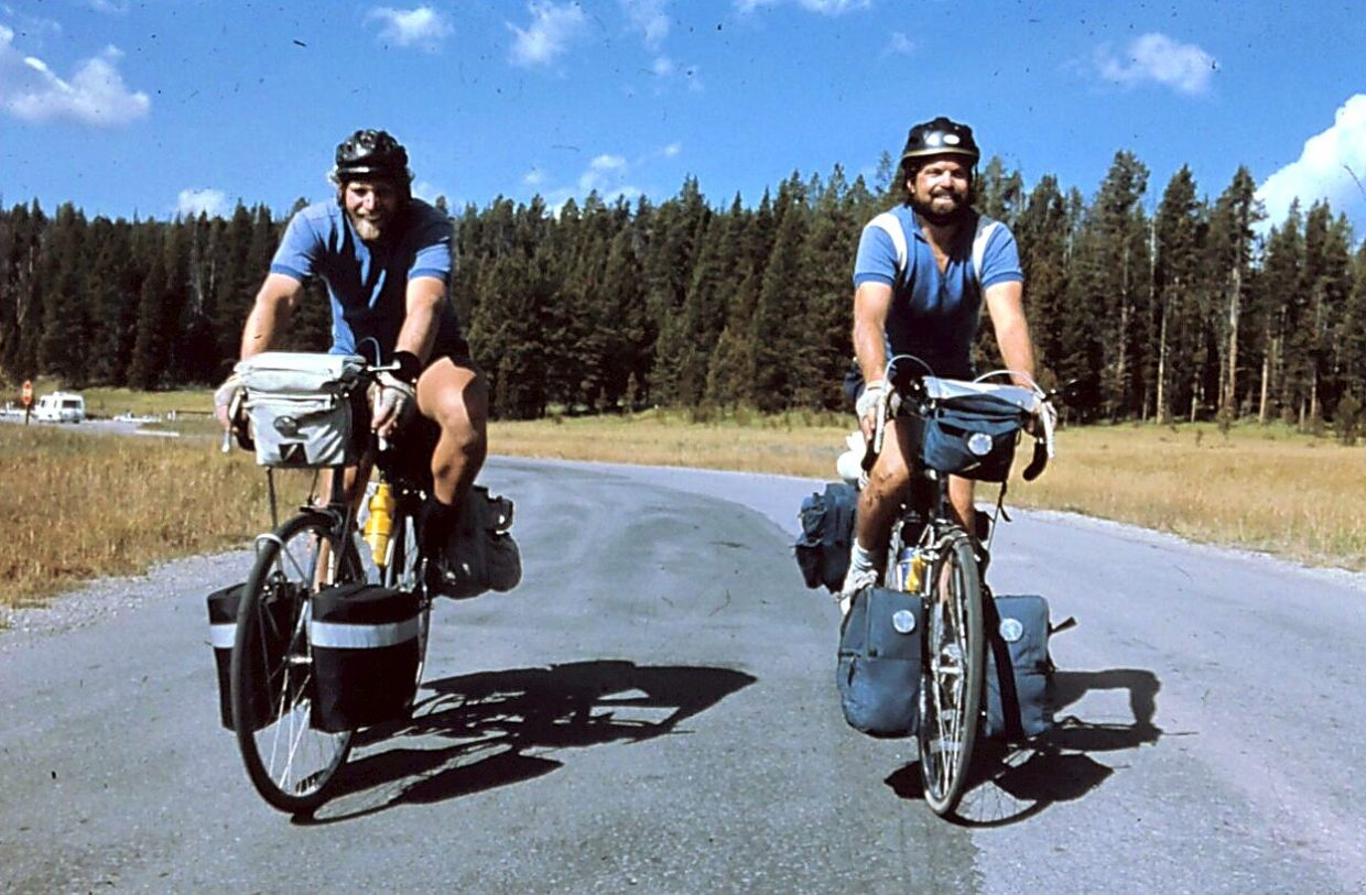 In 1984, Silverthorne's Greg Seebart (left) and his friend, Kevin Holfelner, biked more than 4,700 miles over the course of nearly three months, from the southern border of Alaska to Key West, Florida.