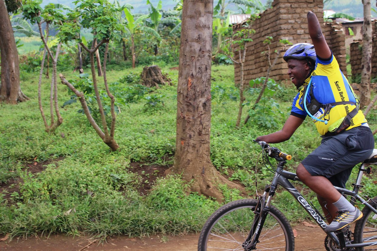 Scenes from the Rwanda bike journey local Christie Abel made with Frederick Ndabaramiye, a young man she met in 2002 when teaching at a school for survivors of the country's genocidal civicl war. Abel and Ndabaramiye met again in 2013 when she returned to Rwanda for the bike ride.