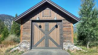 While Mac's Shack had to be torn down, this garage was built using lumber from the original cabin.