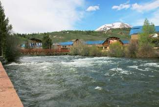 A section of the Blue River outside of Silverthorne. With local rivers running at peak levels, the Summit sheriff urges all outdoor lovers to use caution near rivers, culverts, ditches and creekside campsites.