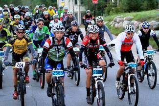 Pro-riders got undwerway early at 6 a.m. for the Breckenridge 100
