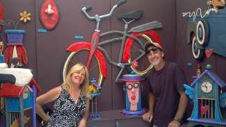 Linda and Rick Bachman provide artistic fun with their Laffingstock sculptures, which will be on display at the Breckenridge Main Street Art Festival today and Sunday.