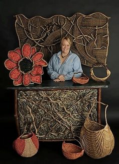 Basket weaver Tina Puckett will be showing her work at the 12th annual Breckenridge Main Street Art Festivaly today through Sunday.